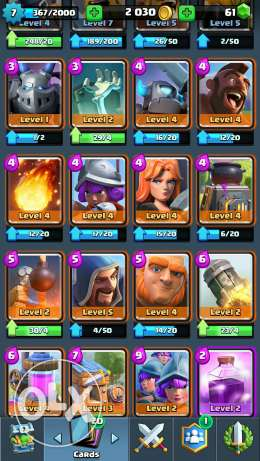 Clash royale account 15 epic 1 legendary Arena 7 الهرم -  2