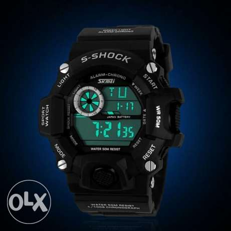 SKMEI Brand Men Military Watch LED Digital Watch 50 Waterproof Quartz العين السخنة -  4