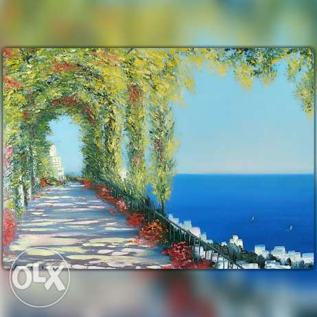 Oil painting, canvas, present, decor, modern
