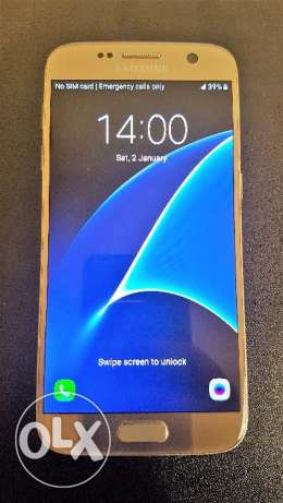 Samsung S7 Dual Sim Gold Excellent Condition مدينة نصر -  2