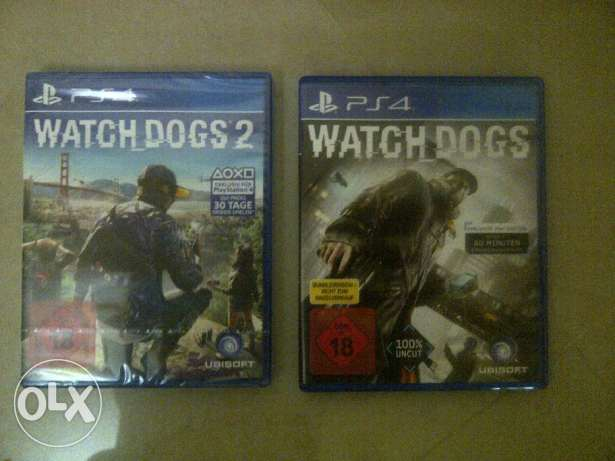 Cd ps4 watch dogs 1+2