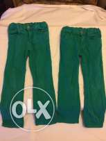 Green and blue trousers size 4-5 years and size 5-6 years