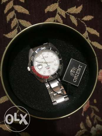 new ORIENT silver stainless steel watch