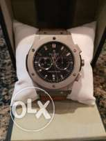 Hublot Geneve Silver Big Bang Swiss Made Chronograph