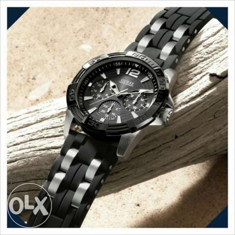 Guess Black Silver Watch