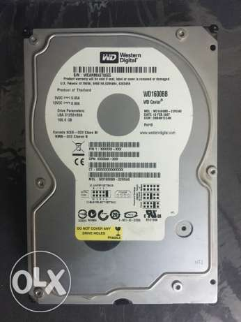 hard disk 160gb (data) western digital