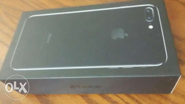 IPHONE 7 PLUS 128 GB jet black colour, new one, NOT ACTIVATED مدينة نصر -  2