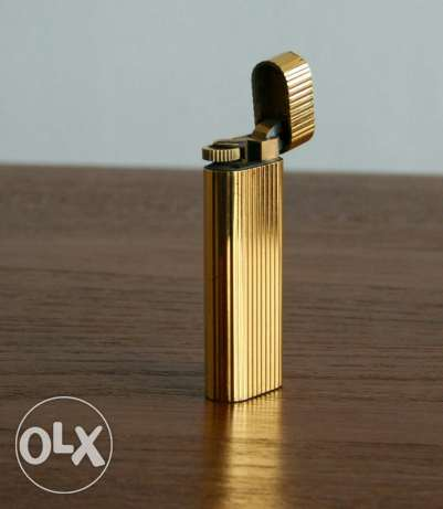 Stylish 1970s Cartier Gold Plate Lighter
