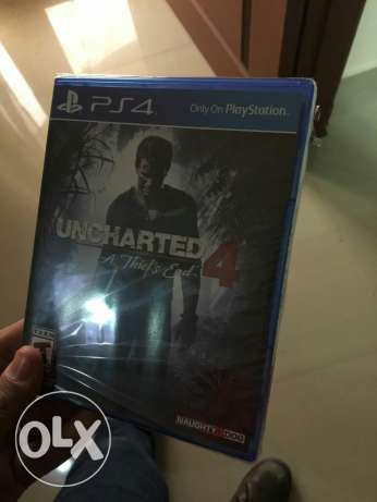 Uncharted 4 game for ps4 for sale new one مصر الجديدة -  1