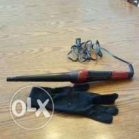 Remington curling wand with glove