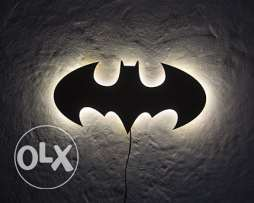 Batman light art wall