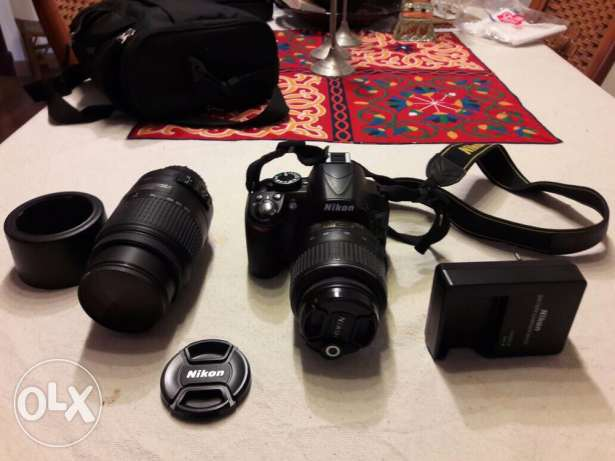 Nikon D3100 with 18-55 and 55-300 Lenses