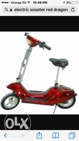 red and electric scooter القاهرة الجديدة -  1