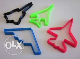 Jet Cookie Cutters 3D (4 pieces)