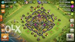 Clash of clans تون هول ٨ فاضل السور