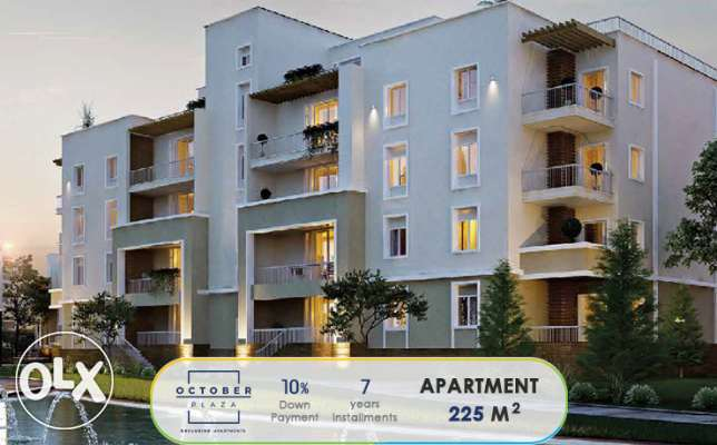 Apartment 225 m in October Plaza 10% down payment 7 years