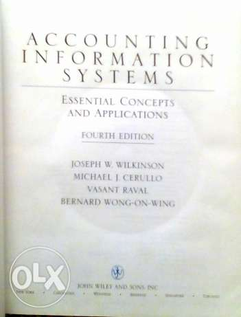 Accounting Information Systems , Essential concepts And Applications . 6 أكتوبر -  2