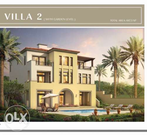 uptown cairo. villa 730 built up area with installments