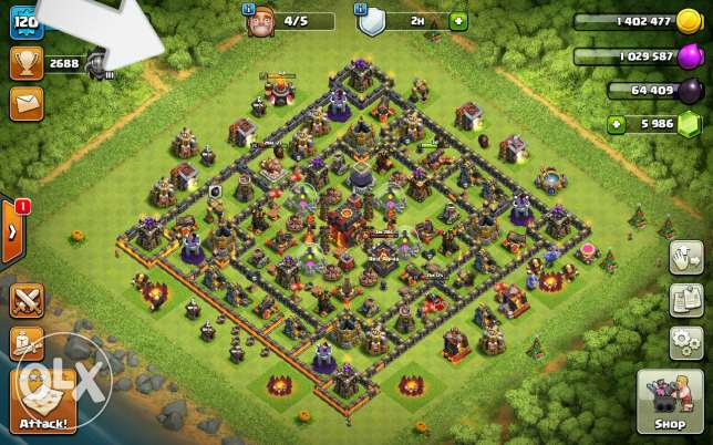 Clash of clans TH 10 almost max
