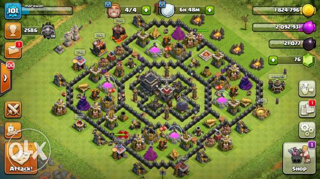 Clash of clans town hall 9 - كلاش اوف كلانس تون هول 9