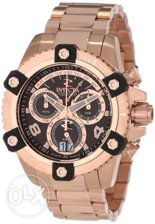 Invicta Men's 13720 Arsenal Chronograph Brown Textured Dial 18k Rose G