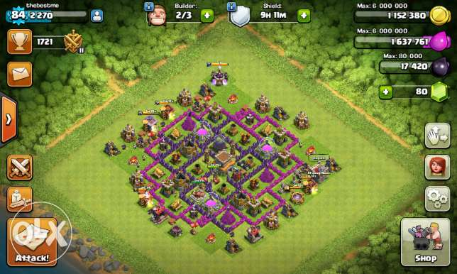 Acount clash of clan Th8