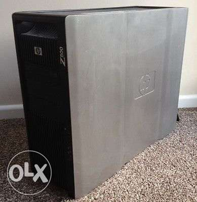 Hp workstation(للجرافيك/رمات24جيجا/ ب2 برسيسوركاش 12 ميجا/FX 600 )