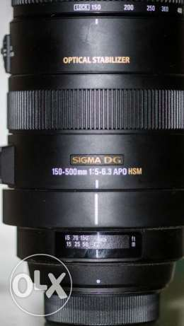 Sigma 150-500mm OS f5-6.3 for nikon as new مدينة نصر -  4