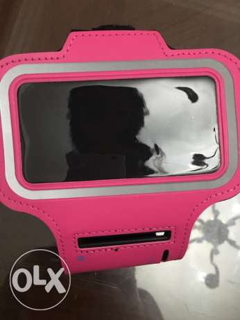 pink iPhone 5 and 5s holder
