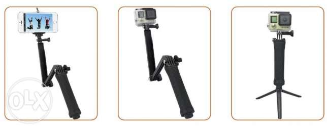 3 Way Arm Tripod Monopod For GoPro Hero 5/5s/4/4s