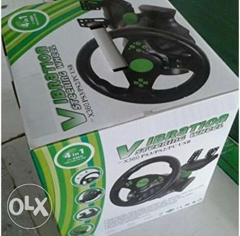 Steering wheel - Vibration - XBOX 360/PS3/PS2/PC
