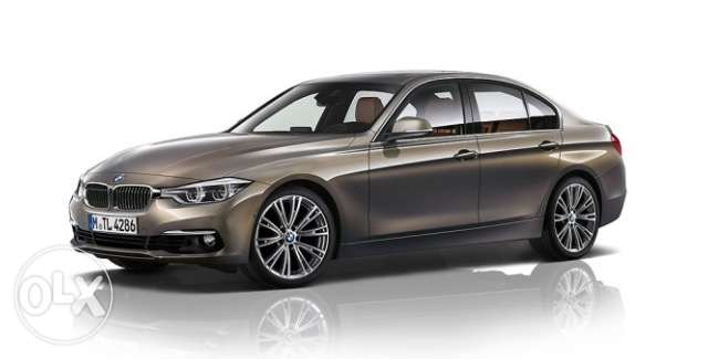 وصل استلام bmw 320i luxury color Moka للبيع 2017