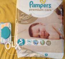 pampers premium care size 4 with fresh clean 64 wipes original