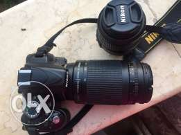 Nikon d3200 used with 70-300 and 18-55 lens
