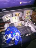 Nintendo 64 PAL with 4 controllers 6 games