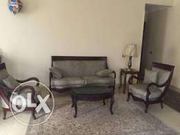 new renovated salon sofa & 2 chairs & table for 5500