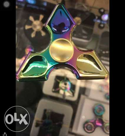 ً Rainbow fidget spinner