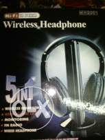Wire less head phone for pc