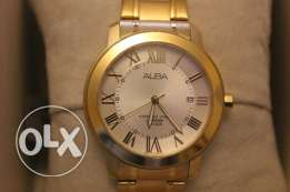 Gold Plated ALBA Men's Wrist Watch