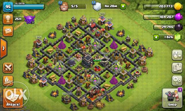 Clash of clans. Lv9.