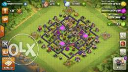 Clash of clans account TH8 maxed