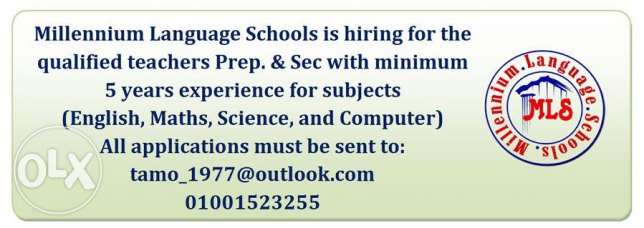 Millennium Language Schools is hiring for the new scholastic year