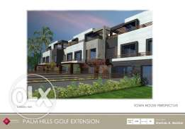 Town house for sale in golf extension zone C with installments