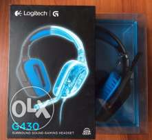 Logitech G430 Dolby 7.1 surround sound Gaming Headset **جديدة متبرشمة*