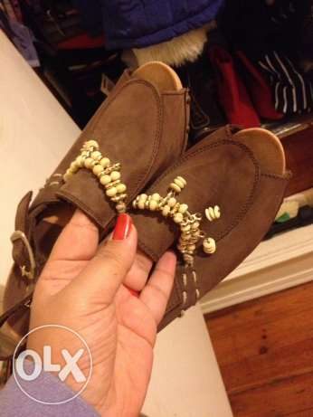 new natural leather saboh made in italy, size37 الدقى  -  5