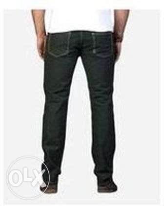 للبيع بنطلون Dockland Olive Color Straight Trousers Pant For Men الزيتون -  4
