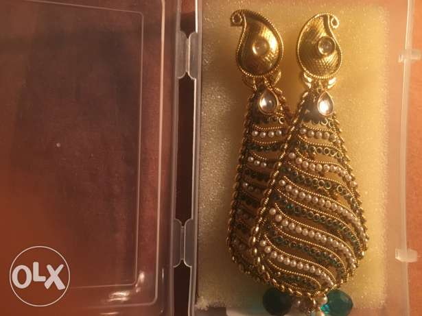 Authentic Indian Earring with pearls from India مدينة نصر -  2