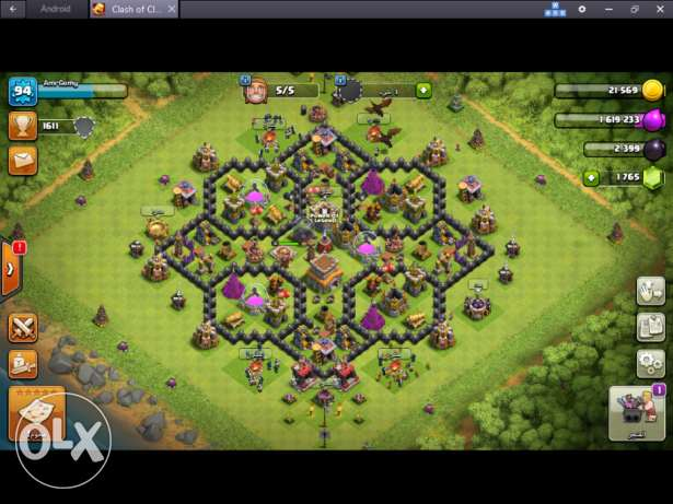 (2 قريتين) clash of clans coc acc th8 كلاش اوف كلانس (2 Villages)