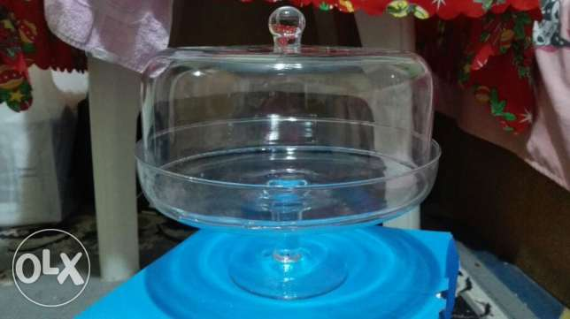 Plat glass cake from uk new with cover