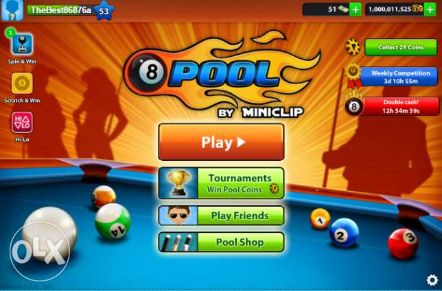 Sell 8 Ball Pool Coins And Accounts